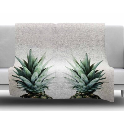 Two Pineapples by Chelsea Victoria Fleece Blanket Size: 50 W x 60 L
