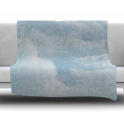 Blue Afternoon by Chelsea Victoria Fleece Blanket Size: 50 W x 60 L