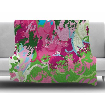 Spring Frolic Abstract by Empire Ruhl Fleece Blanket Size: 50 W x 60 L