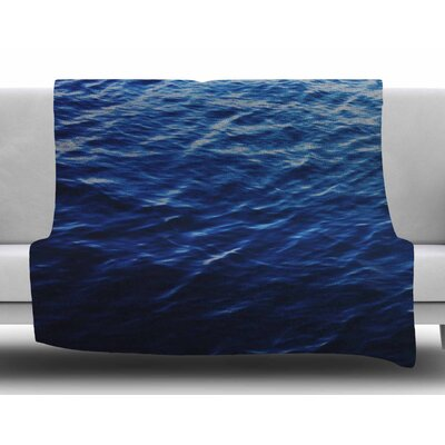 Sea Calm by Chelsea Victoria Fleece Blanket Size: 50 W x 60 L