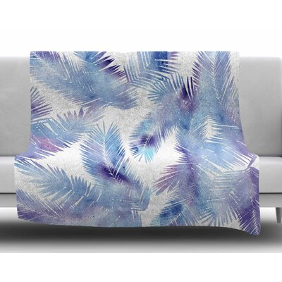 Tropic Breeze by Draper Fleece Blanket Size: 50 W x 60 L