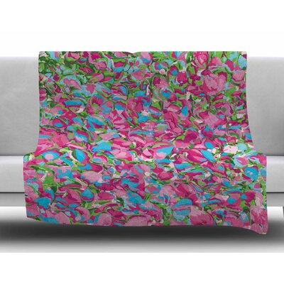Abstract Spring Petals by Empire Ruhl Fleece Blanket Size: 60 W x 80 L