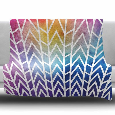 Shattering Rainbows by Matt Eklund Fleece Blanket Size: 60 W x 80 L
