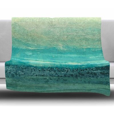 Oceanic by Iris Lehnhardt Fleece Blanket Size: 60 W x 80 L