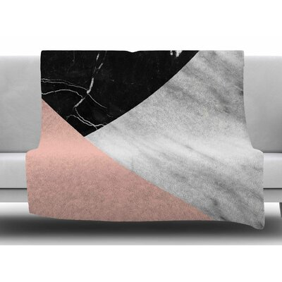 Marble Collage by Cafelab Fleece Blanket Size: 60 W x 80 L