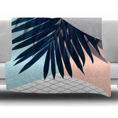 Pastel Geometry by Cafelab Fleece Blanket Size: 50 W x 60 L