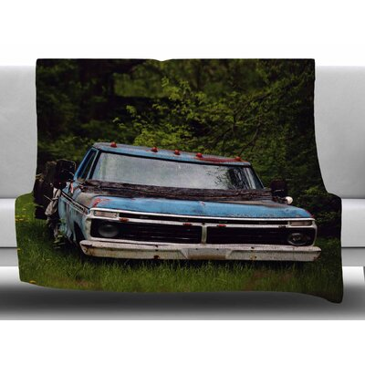 Old Ford Truck by Angie Turner Fleece Blanket Size: 60 W x 80 L