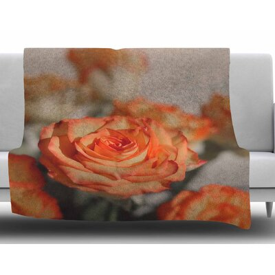 Roses by Angie Turner Fleece Blanket Size: 50 W x 60 L