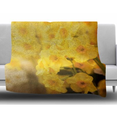 Dreamy Daffodils by Angie Turner Fleece Blanket Size: 60 W x 80 L
