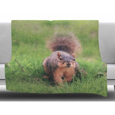 Squirrel by Angie Turner Fleece Blanket Size: 60 W x 80 L