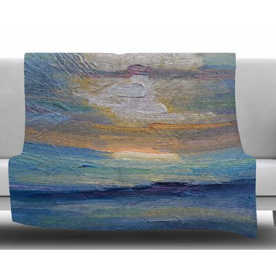 Ocean Sunset by Carol Schiff Fleece Blanket Size: 60 W x 80 L