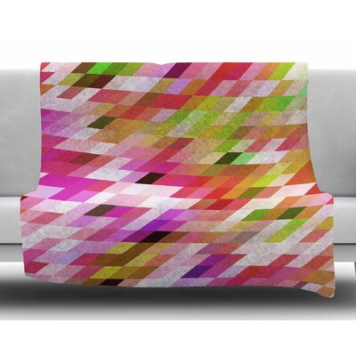 Spring Summer Geometric by Dawid Roc Fleece Blanket Size: 50 W x 60 L