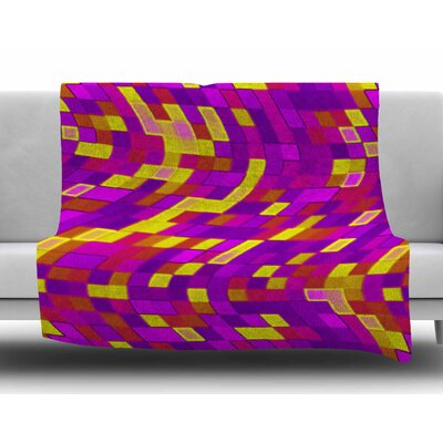 Geometric Movement by Dawid Roc Fleece Blanket Size: 60 W x 80 L