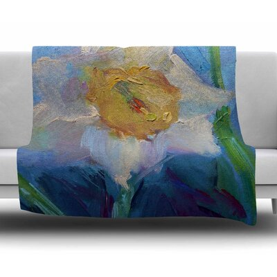 Daffodil Day by Carol Schiff Fleece Blanket Size: 60 W x 80 L