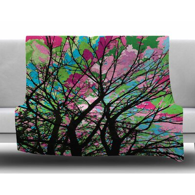 Tree of Spring 2 by Empire Rhul Fleece Blanket Size: 60 W x 80 L