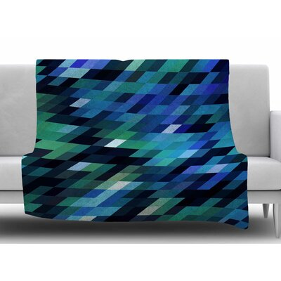 Geometric City by Dawid Roc Fleece Blanket Size: 50 W x 60 L