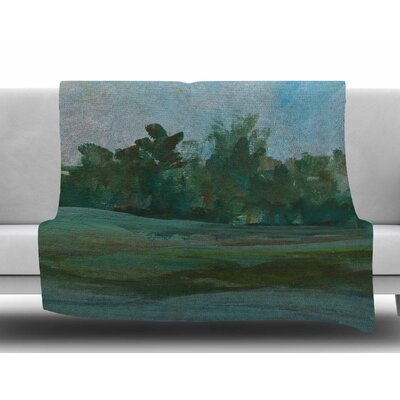 Stand of Trees by Cyndi Steen Fleece Blanket Size: 50 W x 60 L