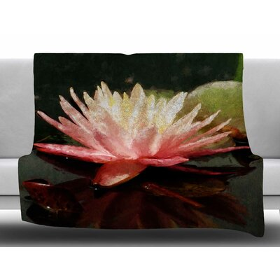 Painted Water Lily by Ginkelmier Fleece Blanket Size: 50 W x 60 L