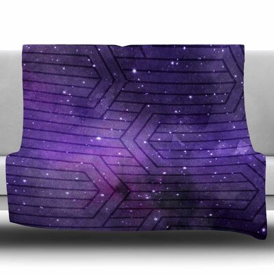 Cosmic Labyrinth by Matt Eklund Fleece Blanket Size: 60 W x 80 L