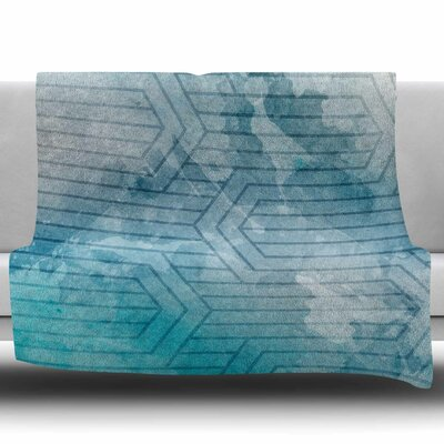Frost Labyrinth by Matt Eklund Fleece Blanket Size: 60 W x 80 L