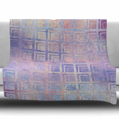 Tiled Dreamscape by Matt Eklund Fleece Blanket Size: 50 W x 60 L