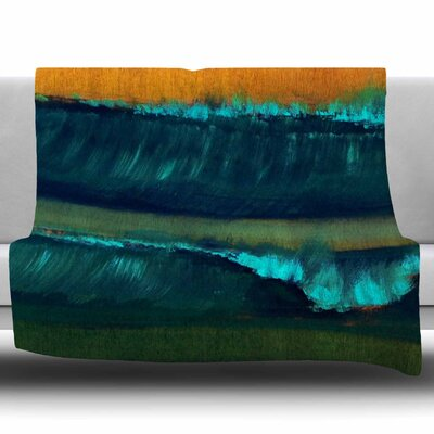 Leaf Tea by Nathan Gibbs Fleece Blanket Size: 50 W x 60 L