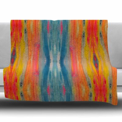 Boho Tie Dye by Nika Martinez Fleece Blanket Size: 50 W x 60 L