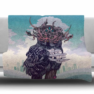 Journeying Spirit (Owl) by Mat Miller Fleece Blanket Size: 60 W x 80 L