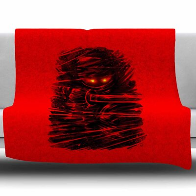 Dark Ninja by BarmalisiRTB Fleece Blanket Size: 60 W x 80 L