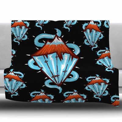 Diamond Mountain by BarmalisiRTB Fleece Blanket Size: 60 W x 80 L