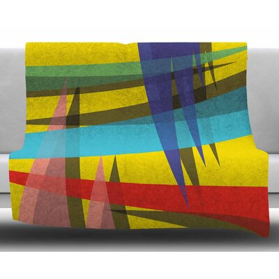 Ambient by Bruce Stanfield Fleece Blanket Size: 60 W x 80 L
