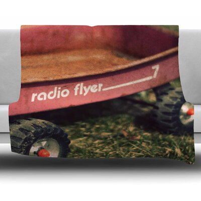 Raidio Flyer by Angie Turner Fleece Blanket Size: 50 W x 60 L