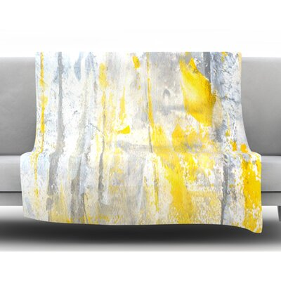 Abstraction by CarolLynn Tice Fleece Blanket Size: 60 W x 80 L