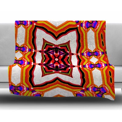 Inspired By Psychedelic Art 4 by Dawid Roc Fleece Blanket Size: 50 W x 60 L