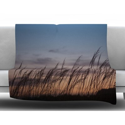 Sunset on the Beach by Catherine McDonald Fleece Blanket Size: 60 W x 80 L