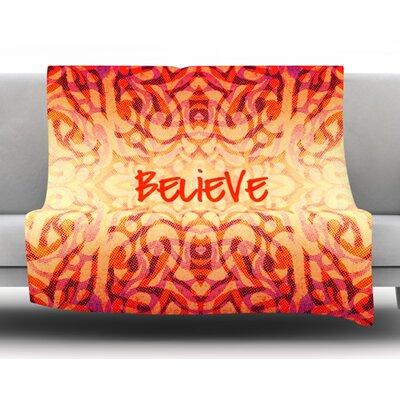 Tribal Believer By Alveron Fleece Blanket Size: 60 L x 50 W x 1 D