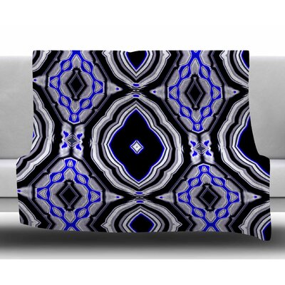 Inspired By Psychedelic Art 3 by Dawid Roc Fleece Blanket Size: 50 W x 60 L