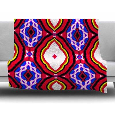 Inspired By Psychedelic Art 2 by Dawid Roc Fleece Blanket Size: 50 W x 60 L