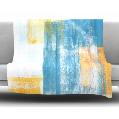 Color Combo by CarolLynn Tice Fleece Blanket Size: 50 W x 60 L