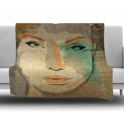 Agata by Carina Povarchik Fleece Blanket Size: 60 W x 80 L
