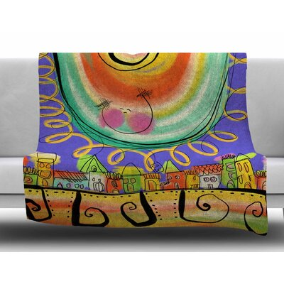 Sun-Violet by Carina Povarchik Fleece Blanket Size: 50 W x 60 L