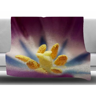 Tulip by Angie Turner Fleece Blanket Size: 60 W x 80 L