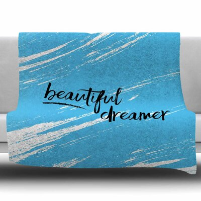 Beautiful Dreamer by NL Designs Fleece Blanket Size: 50 W x 60 L