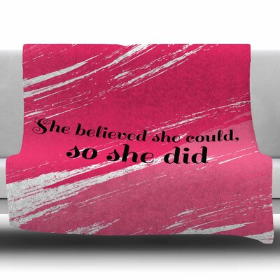 She Did by NL designs Fleece Blanket Size: 60 W x 80 L
