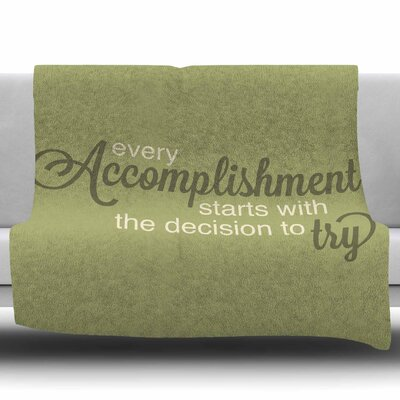 Accomplishment NL designs Fleece Blanket Size: 50 W x 60 L