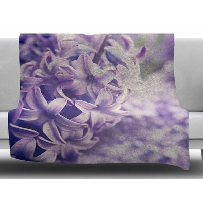Lavender Dreams by Angie Turner Fleece Blanket Size: 50 W x 60 L