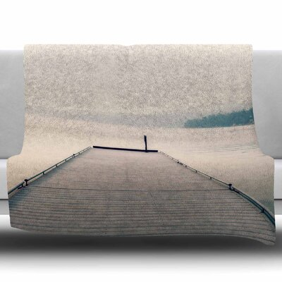 Tranquility by Robin Dickinson Fleece Blanket Size: 50 W x 60 L