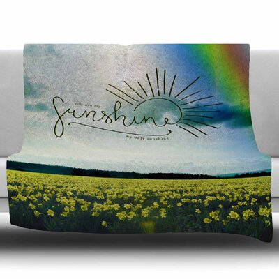 You Are My Sunshine, Rainbow by Robin Dickinson Fleece Blanket Size: 60 W x 80 L