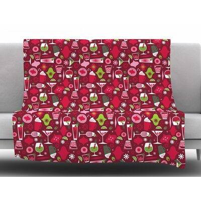Holiday Spirits by Allison Beilke Holiday Fleece Blanket Size: 50 W x 60 L