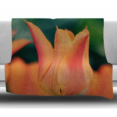 Tulip by Angie Turner Fleece Blanket Size: 50 W x 60 L